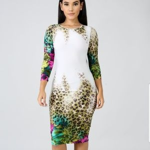 1d19f6b4dbf gitionline. Floral and cheetah bodycon dress